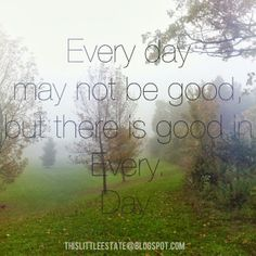Simple Sunday {There is good in every day}