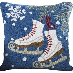 $40.95 18X18 100% POLYESTER, INCLUDING FILL. Found it at Joss & Main - Diana Ice Skates Throw Pillow