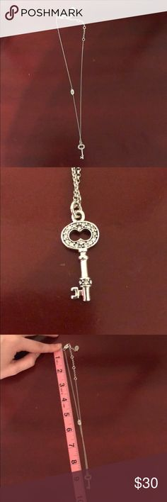 Juicy Couture Key necklace Great condition, silver chain Juicy Couture Jewelry Necklaces