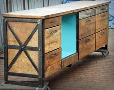 Handmade furniture by manufacture-mrn. Industrial Vintage, Industrial Loft, Handmade Furniture, Cabinet, Space, Tv, Storage, Inspiration, Home Decor