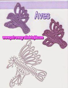 patrones ganchillo de pajaro