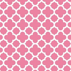 Fabric... Quatrefoil in Hot Pink by Riley Blake Designs