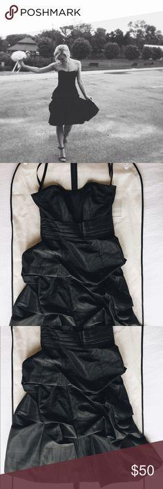 Little Black Dress Weddington Way Black Bridesmaids Dress Weddington Way Dresses Strapless