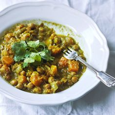 Warming Chickpea and Pumpkin curry