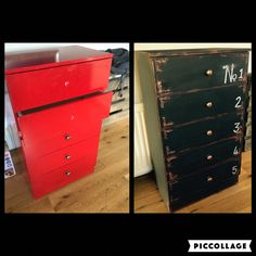 Repainted chest of drawers