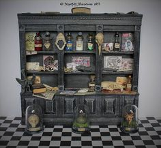 Dollhouse Miniature Creepy Curiosity Cryptozoology Cabinet