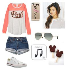 """""""Where dreams come true!"""" by caroline11221 ❤ liked on Polyvore featuring Converse, Casetify and Ray-Ban"""