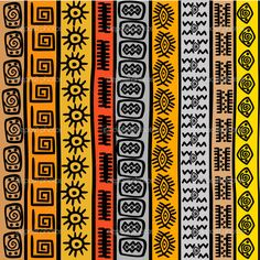 Stock Vector Vector - Seamless pattern with ethnic African m.- Stock Vector Vector – Seamless pattern with ethnic African motifs Stock Vector Vector – Seamless pattern with ethnic African motifs - Arte Tribal, Tribal Art, Tribal Pattern Art, Tribal Decor, Black Pattern, Ethnic Patterns, Textile Patterns, African Patterns, Art Patterns
