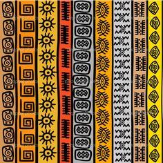patrones sin fisuras con motivos étnicos africanos - Imagen de stock: 15788329
