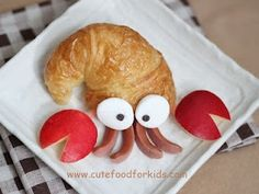 Cute Food For Kids: Crescent Roll Hermit Crab. Website has tutorial. Cute Food, Good Food, Yummy Food, Toddler Meals, Kids Meals, Crescent Rolls, Food Crafts, Mets, Food Humor