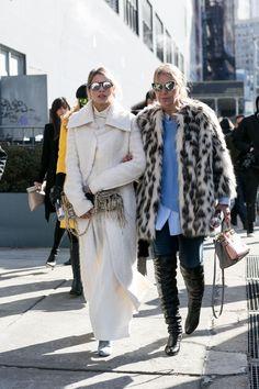Blogger Helena Bordon and her mother, Vogue Brazil's Donata Meirelles. Photo: Imaxtree.