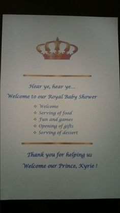 Royal Baby Shower Baby Shower Party Ideas | Royal Baby Showers, Royal  Babies And Royals