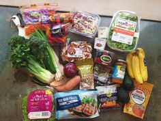 How to save at the grocery store while shopping for healthier products! Grocery Haul, Grocery Store, Mahi Mahi Fillet, Spinach, Sausage, Drink, Eat, Healthy, Shopping