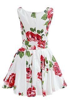 white, floral sun dress. so cute.