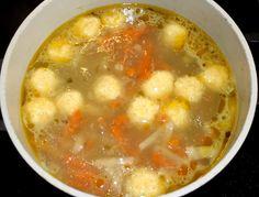 Суп с сырными клецками 9