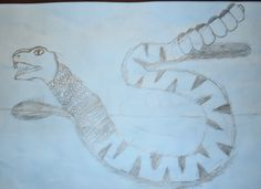 Pencil drawing, by a 7th grader, in Ms. Hazlett's Art class~