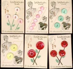 Assortment of Pearl Button Cards with Lady Graphics review at Kaboodle