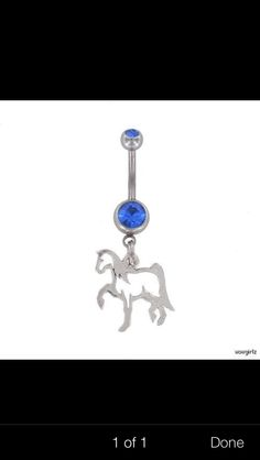Horse belly button ring want in red❤️