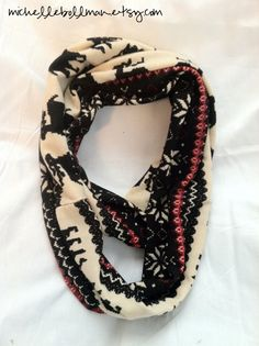 Fair Isle Jersey Knit Infinity Scarf