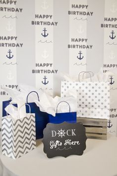 Nautical Birthday Ta