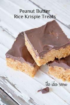 Peanut Butter Rice Krispie Treats Recipe | theidearoom.net