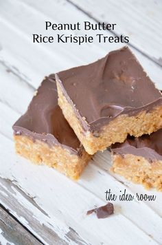 Peanut Butter Rice Krispie Treats Recipe | theidearoom.net
