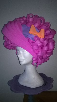 Pink Lady foam wig made by Lady Mallemour