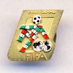 1990 FIFA WORLD CUP in Italy PIN Badge FOOTBALL Soccer ITALIA Calcio  | eBay