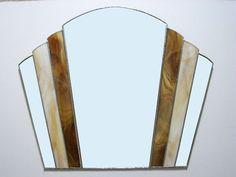 £84 Art Deco Fantail Stained Glass Hand Made Mirror FT3 50 x 59cm | eBay