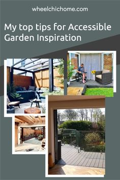On my blog post I'm looking at accessible, adapted and wheelchair friendly garden inspiration, you can find it anywhere, if you see something you like, then see how you can adapt it for your needs? Take a look at my blog post for some inspiration! Raised Planter, Relaxing Places, Outdoor Spaces, Outdoor Decor, Enjoying The Sun, Garden Hose, Garden Inspiration, Interior Styling, Outdoor Gardens