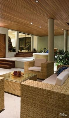 forro lambri Interior Architecture, Interior Design, Indian Homes, How To Clean Furniture, Outdoor Furniture Sets, Outdoor Decor, Ceiling Design, Sweet Home, My House