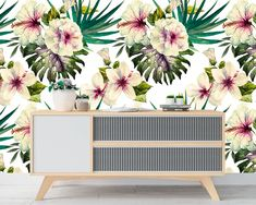 Upgrade your walls with this elegant Botanical Watercolor Wall Mural adding an exclusive touch to your personal style and surprise your family and friends. Leaves Wallpaper, New Wallpaper, Fabric Wallpaper, Pattern Wallpaper, Watercolor Walls, Watercolor Leaves, Wall Murals, Wall Art, Nursery Fabric