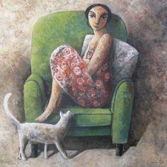 """Didier Lourenço (Barcelone, 1968 - ) """"Can I"""" 2012, Huile sur toile, H. 100 cm ; L. 100 cm. ?"""