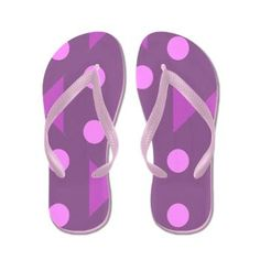 Purple and Pink Flip Flops. Sized from Kids small to adult large.