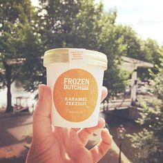 karamel zeezout ijs bij ijssalon Lemon Tilburg
