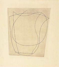 Ben Nicholson - Rafael, 1967, Intaglio print on paper.