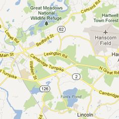 6.5 miles from Buckman Tavern to Concord, MA - Google Maps