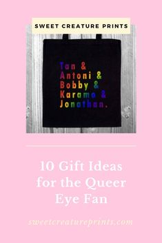 Looking for the perfect gift for the Queer Eye fan in your life? We've put together some of our favourites, click through to see! Vegan Fashion, Ethical Fashion, Tan France, Lgbt History, Intersectional Feminism, Etsy Business, Small Gifts, Stocking Stuffers, Best Gifts
