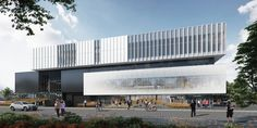 McMaster University Student Activity Building and Fitness Expansion Factory Architecture, Retail Architecture, Architecture Design, Hospital Architecture, Mix Use Building, Youth Center, Building Facade, Facade Design, Model Homes