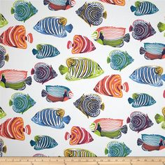 P Kaufmann Indoor/Outdoor Fish Tale Sunburst from @fabricdotcom  This great outdoor fabric is perfect for outdoor settings and indoors in sunny rooms. It is fade resistant up