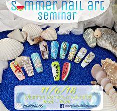 Καυτό 🔥 καλοκαιρινό Σεμινάριο nail art !!!   Μην το χάσεις!! Θα χάσεις 👉  Θα διδαχθείτε: ~foil manicure ~εφέ θάλασσας  ~εφέ άμμου  ~γραμμικό  ~3D κοχύλι  ~3D gel  ~εφέ Sugar  ~fruit nail art (ακτινίδιο-καρπούζι)  Θα μάθετε επίσης 👍πολλά μικρά καθημερινά μυστικά πάνω στο nail art 👍πολλές τεχνικές λεπτομέρειες για τα προϊόντα  👍σωστό pre & after sales  👍σωστή κοστολόγηση κάθε υπηρεσίας    🔝Παρέχονται: ☆όλα τα υλικά καθ' όλη την διάρκεια του σεμιναρίου  ☆Βεβαίωση συμμετοχής ☆after…