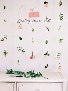 DIY: How to make a floating flower wall // Lark & Linen