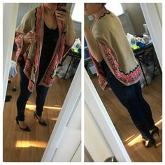 Le tote item:  FATE evil eye wrap  My closet:  Jeans-Cafe Denim  Black body suit Heels-Sam Edelman