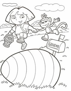 Dora The Explorer Stars Coloring Pages