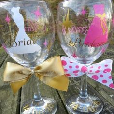 Personalised wineglass. Find these at www.thegbwedding.com!