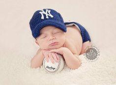 New york yankees Baseball Tean Baby Crochet Hat by astitchintime36 e2b985b253c