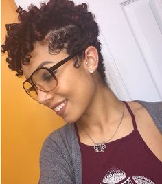125 Best Curly With Glasses Images Natural Hair Styles
