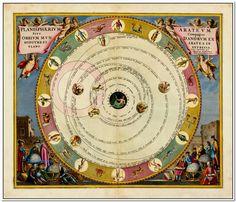 Planisphaerium Arateum Sive Compages Orbium Mundanorum Ex Hypothesi Aratea In Plano Expressa.  Map Maker: Andreas Cellarius  Place / Date: Amsterdam / 1660 (1708)