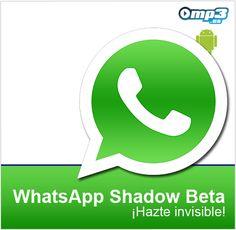 WhatsApp Shadow Beta para Android te permite conectarte invisible al chat - Si deseas iniciar sesión de manera invisible a los demás usuarios en WhatsApp, esta aplicación es lo que necesitas. ¡Inténtalo ahora mismo! http://descargar.mp3.es/lv/group/view/kl230493/WhatsApp_Shadow_Beta.htm?utm_source=pinterest_medium=socialmedia_campaign=socialmedia