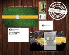 Check out our Deluxe Baseball Themed Wedding Invitation on ETSY!  Custom designed to include wedding ticket invitation, envelopes, and full color trifold ticket holder.  #baseballwedding  #stwdotcom